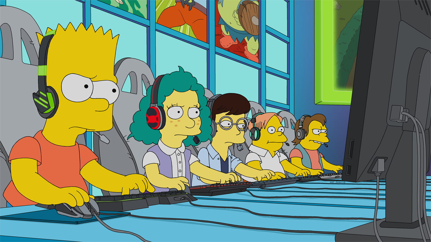 The Simpsons tackle Esports