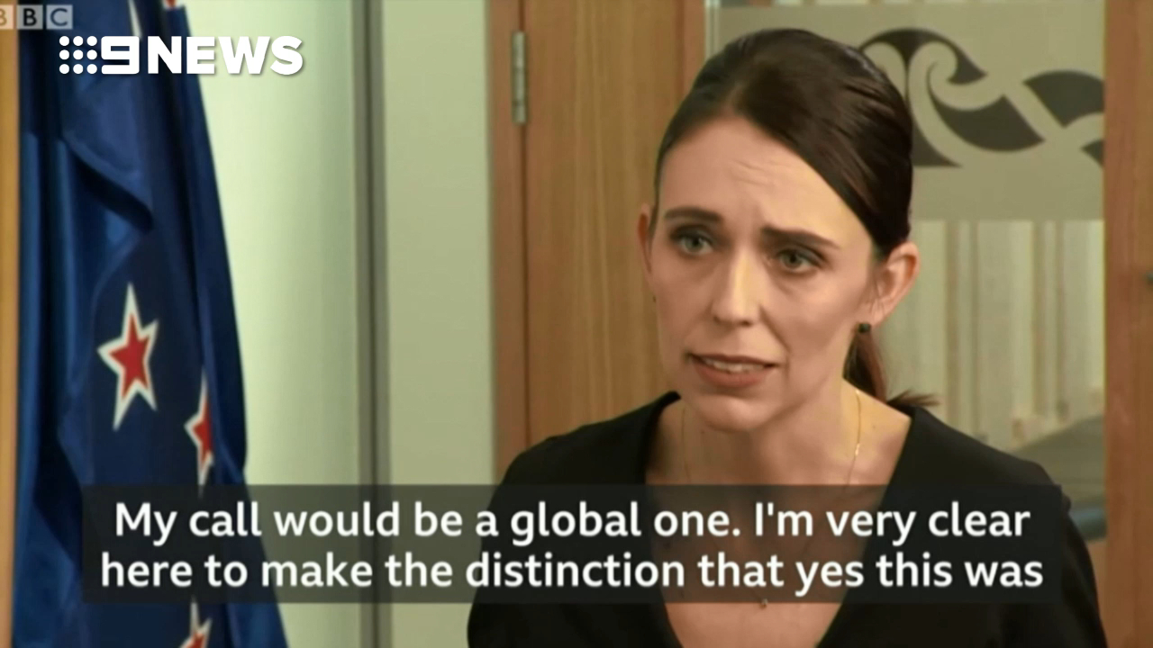 Jacinda Ardern calls on the world to reject hate