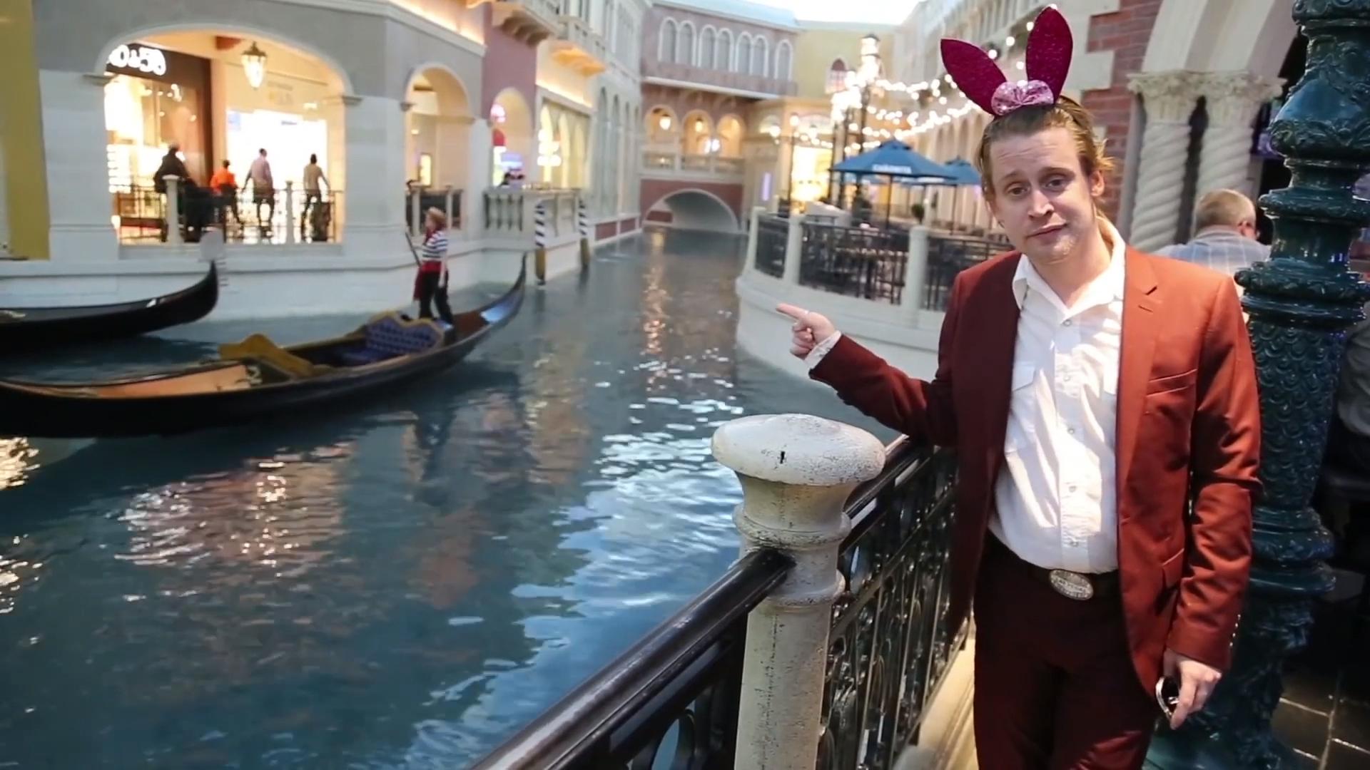 Macaulay Culkin promotes podcast 'Bunny Ears' in Las Vegas