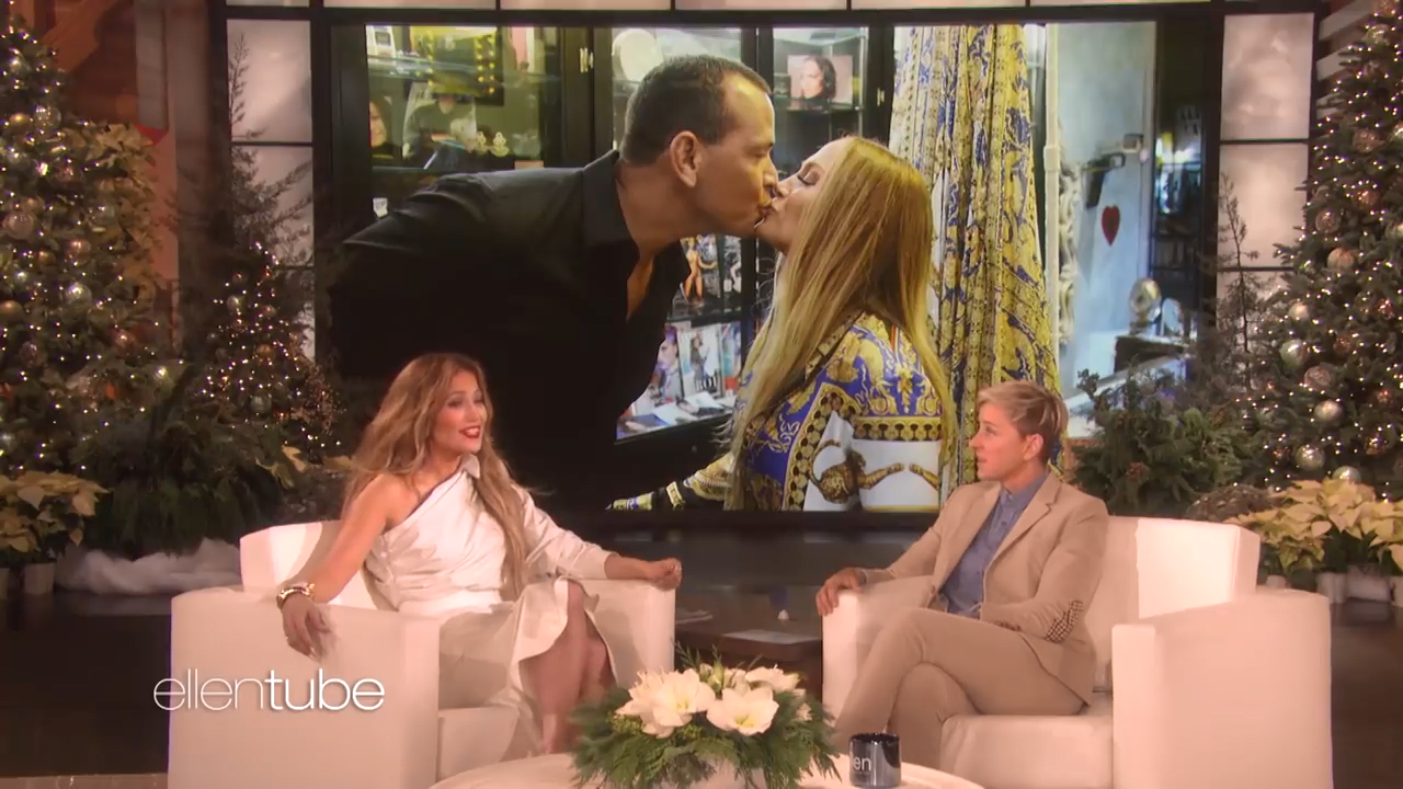 Ellen DeGeneres joked that Jennifer Lopez and Alex Rodriguez would get engaged soon
