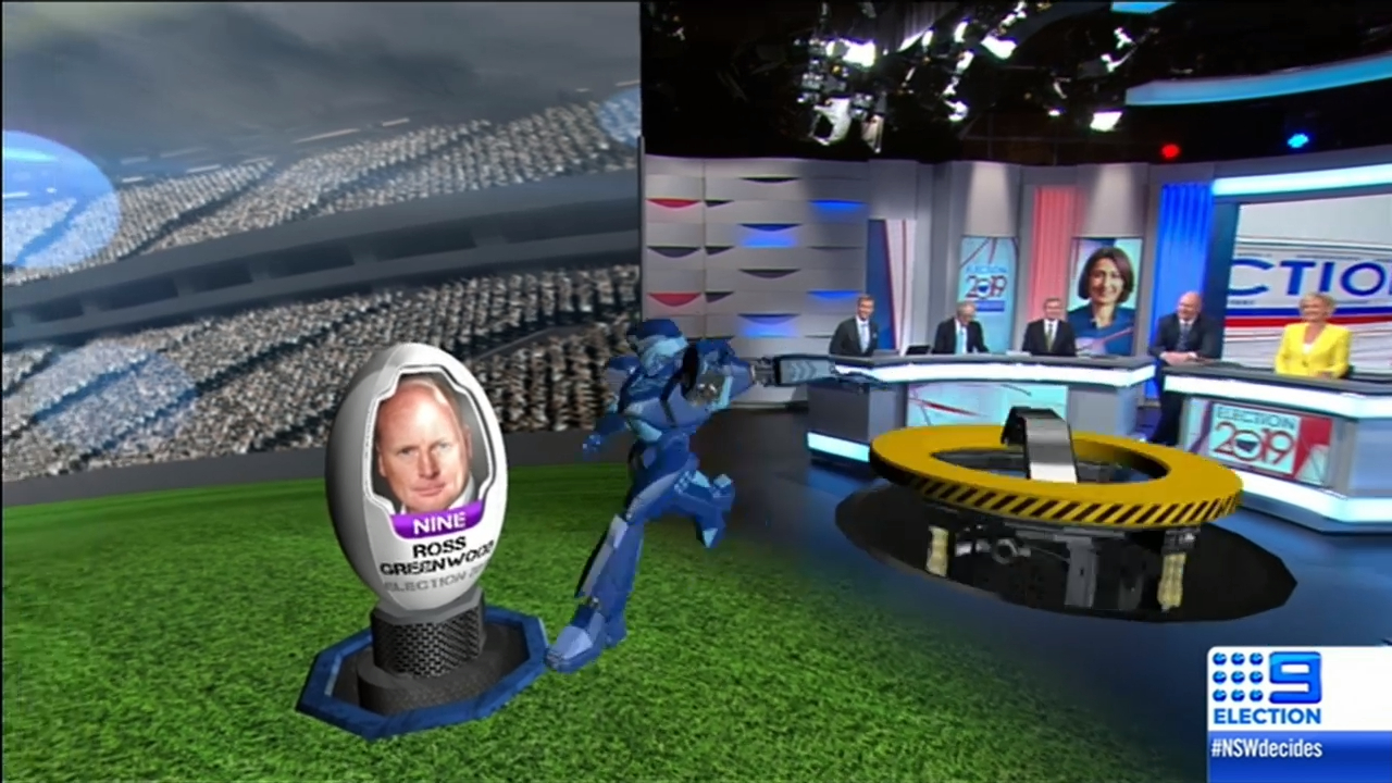 NSW Election: Meet the virtual robot in the Nine newsroom
