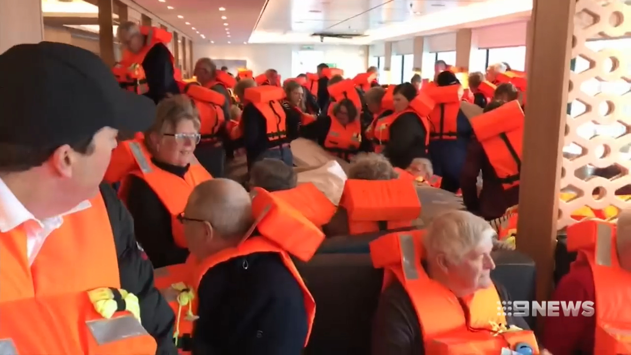 Mass cruise ship evacuation underway off Norway Coast