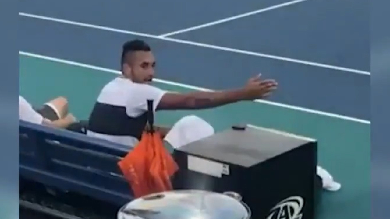 Kyrgios' shocking Miami Open blow-up