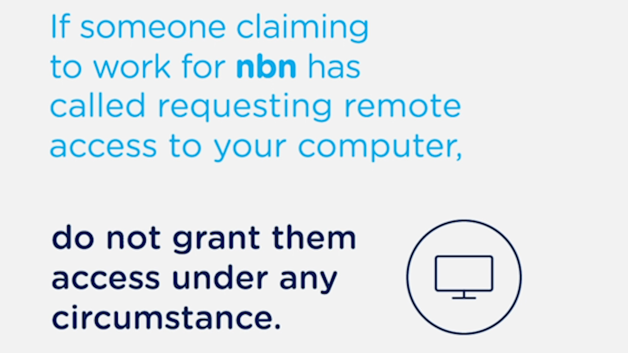 How to avoid scammers impersonating the NBN