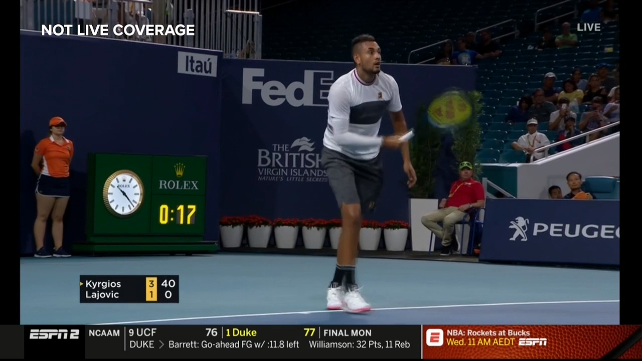 Kyrgios stuns with underarm ace