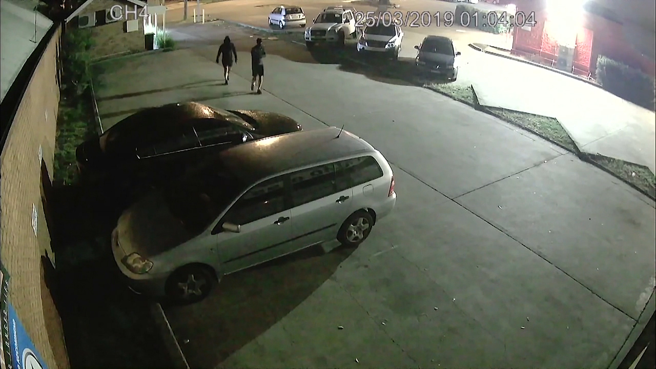 Theft of vintage Holden Commodores caught on CCTV