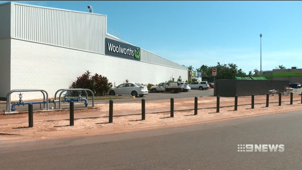 A transport company has been fined over the death of a man in a Woolworths loading dock