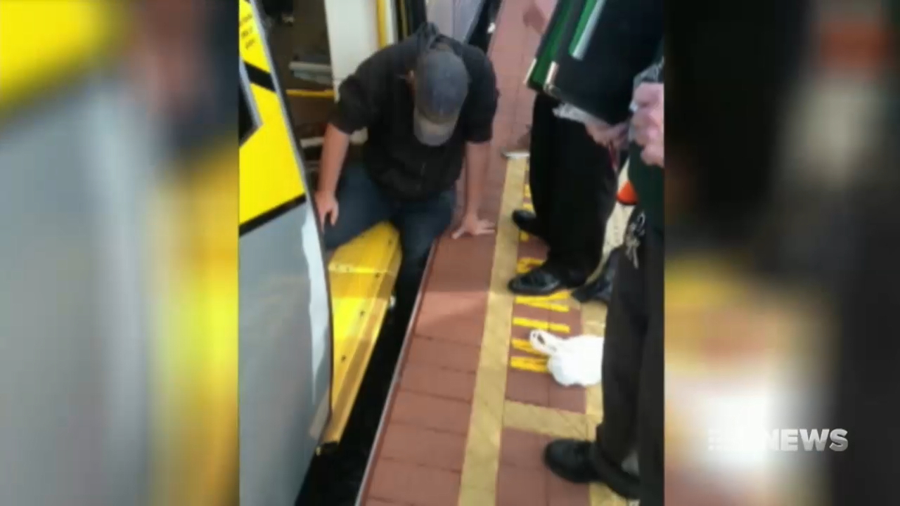 Perth student falls down gap at train station