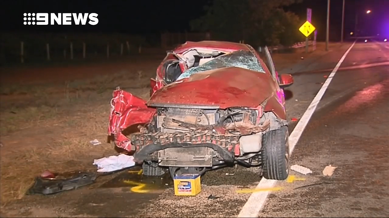 Mother of two dies in car-truck crash