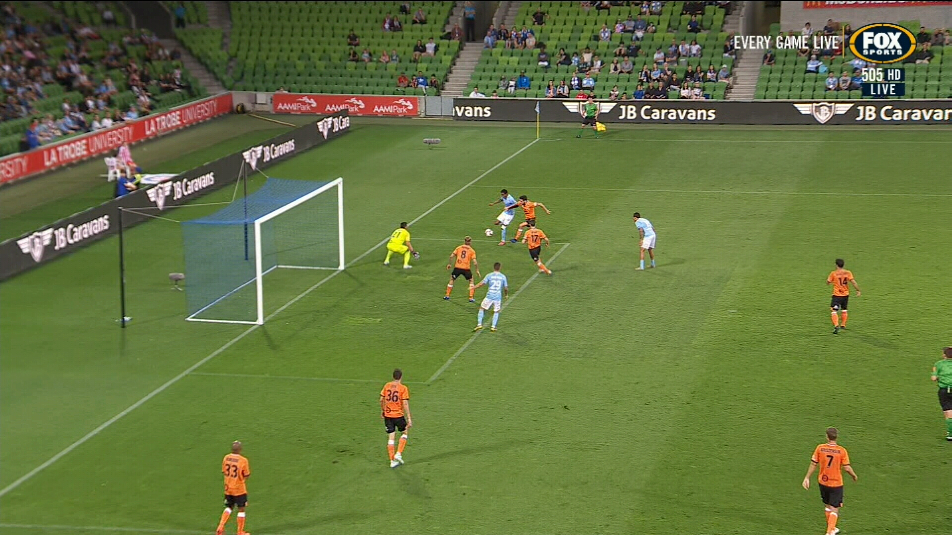 City smash Brisbane Roar