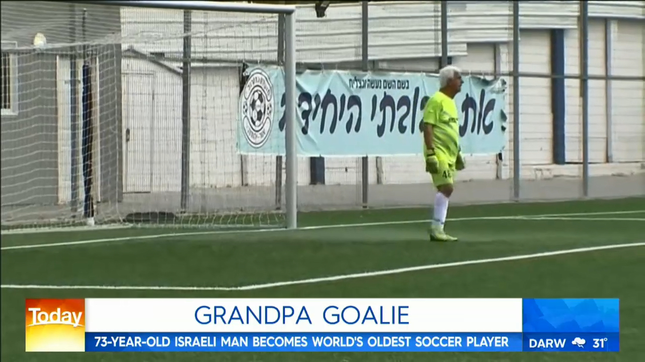 Oldest-ever football player sets world record