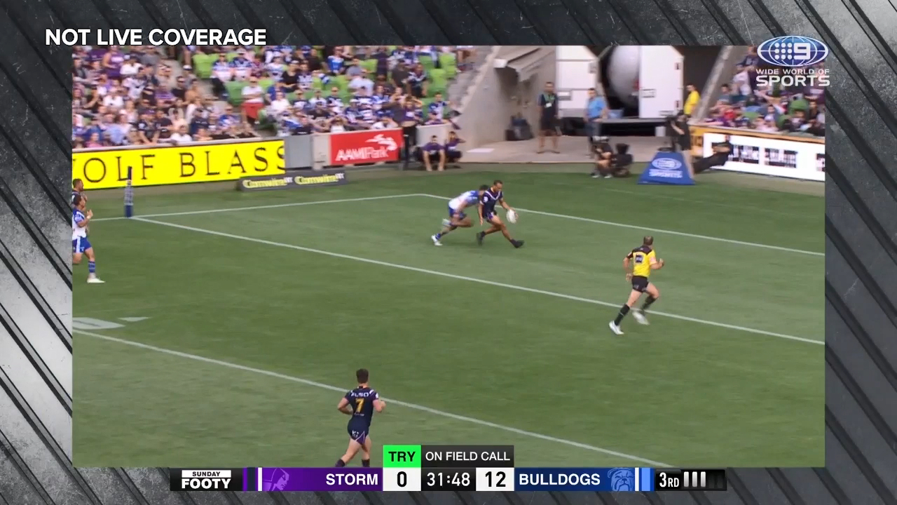 Storm gifted penalty try