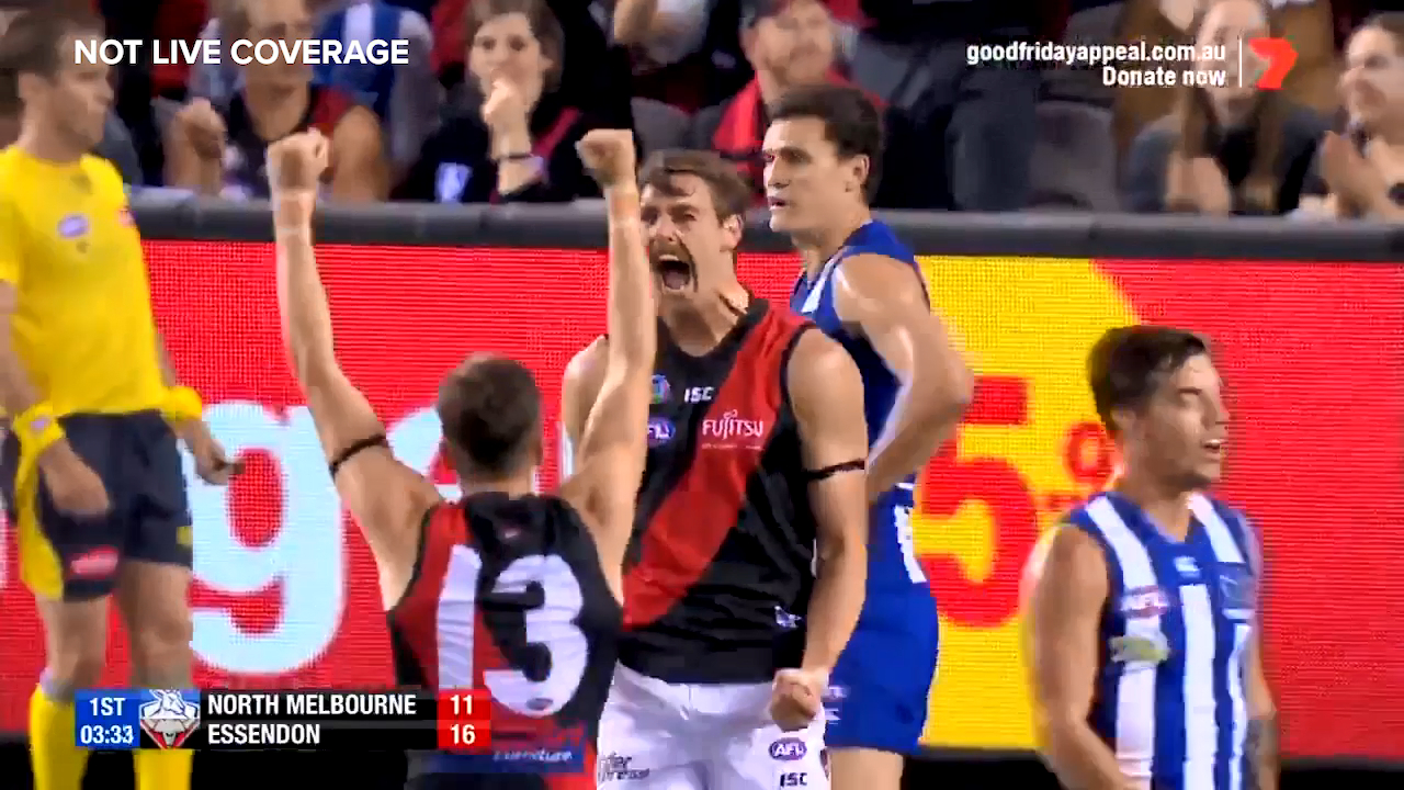 Daniher marks his return with a bang