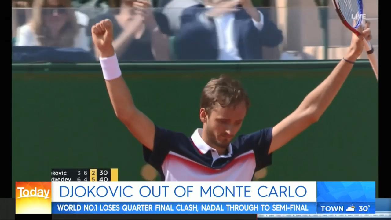 Djokovic upset in Monte Carlo
