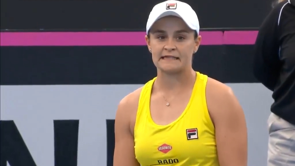 Barty wins after tense match point HawkEye review