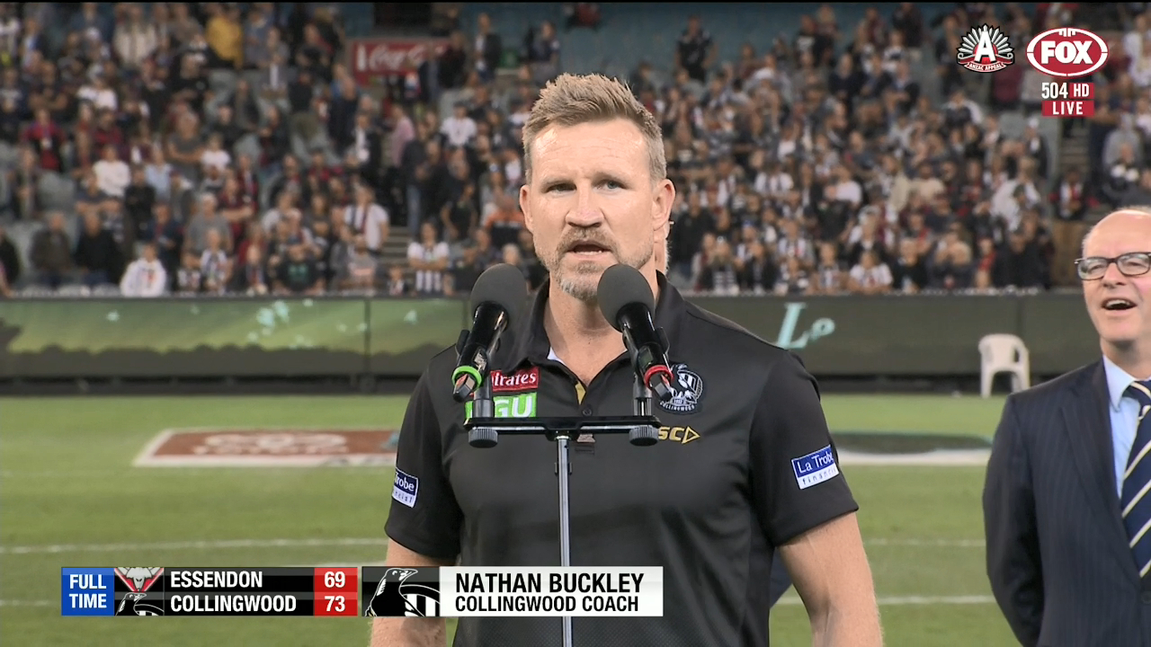 Buckley slams Pendlebury booers