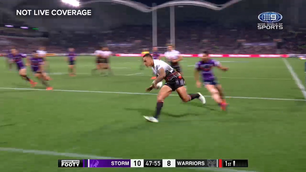 Warriors score after last tackle confusion