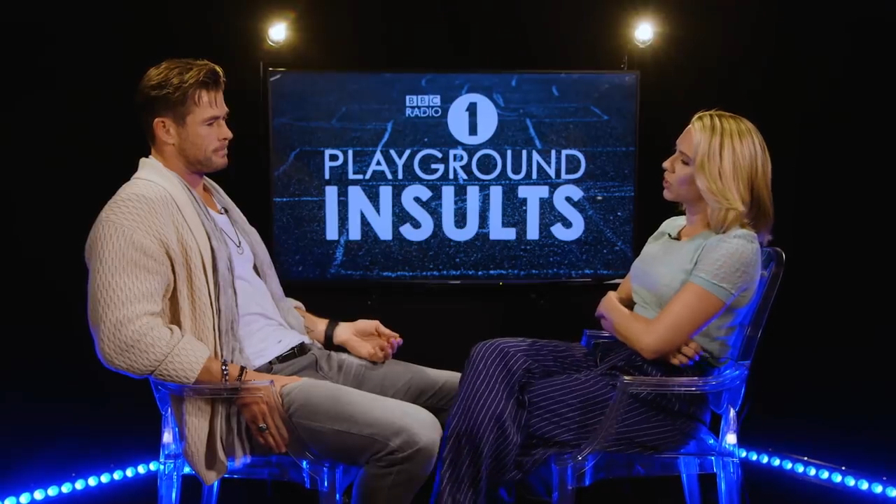 Chris Hemsworth and Scarlett Johansson insult at each other on radio