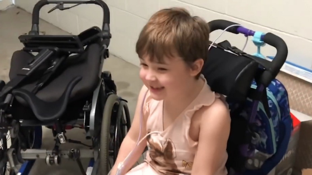 Family of disabled child forced to fundraise for wheelchair