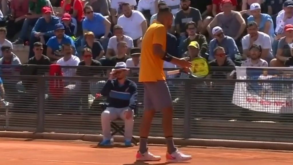 Kyrgios lets fly as he goes down to Ruud