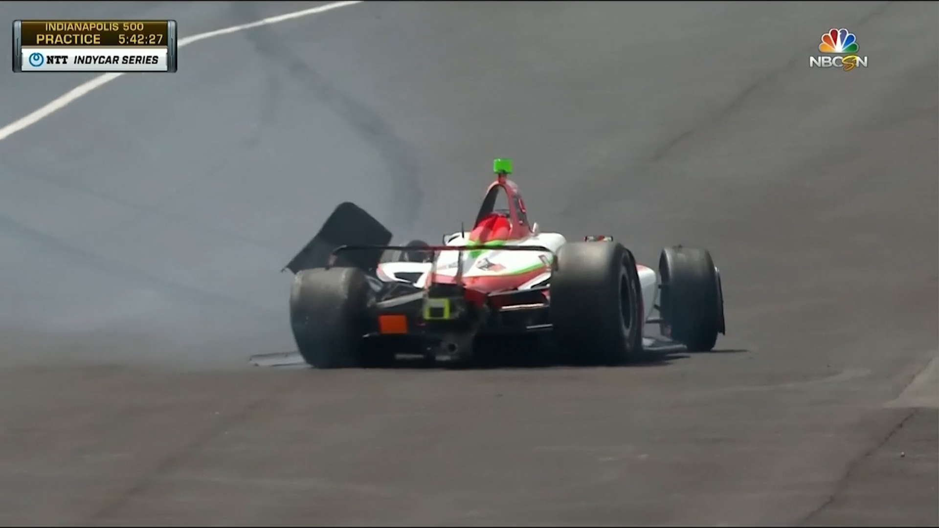 Horror crash for O'Ward at Indianapolis