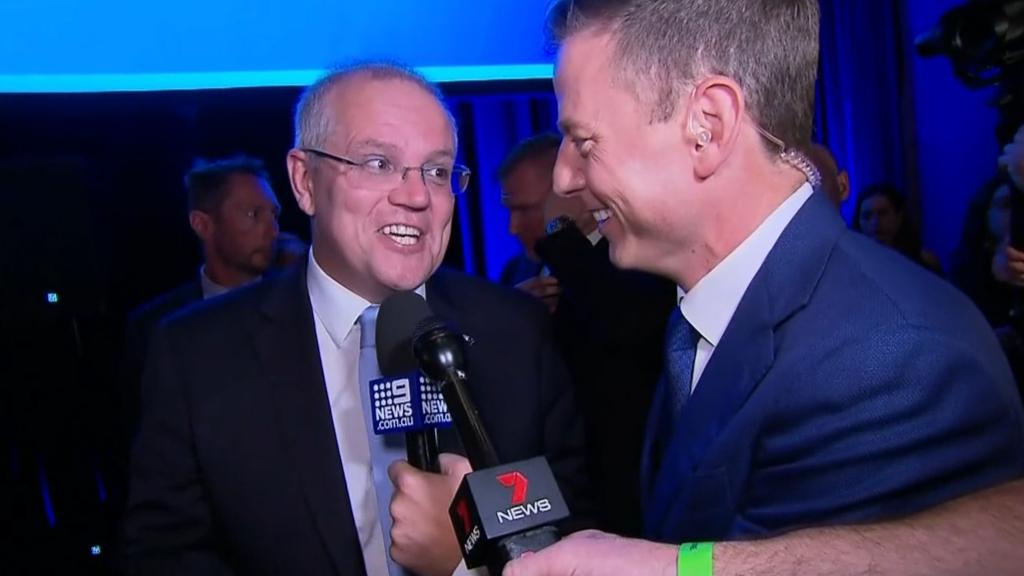 Ben Fordham speaks to victorious Scott Morrison