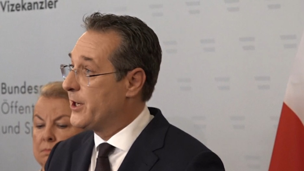 Austrian vice chancellor Heinz-Christian Strache resigns over video scandal