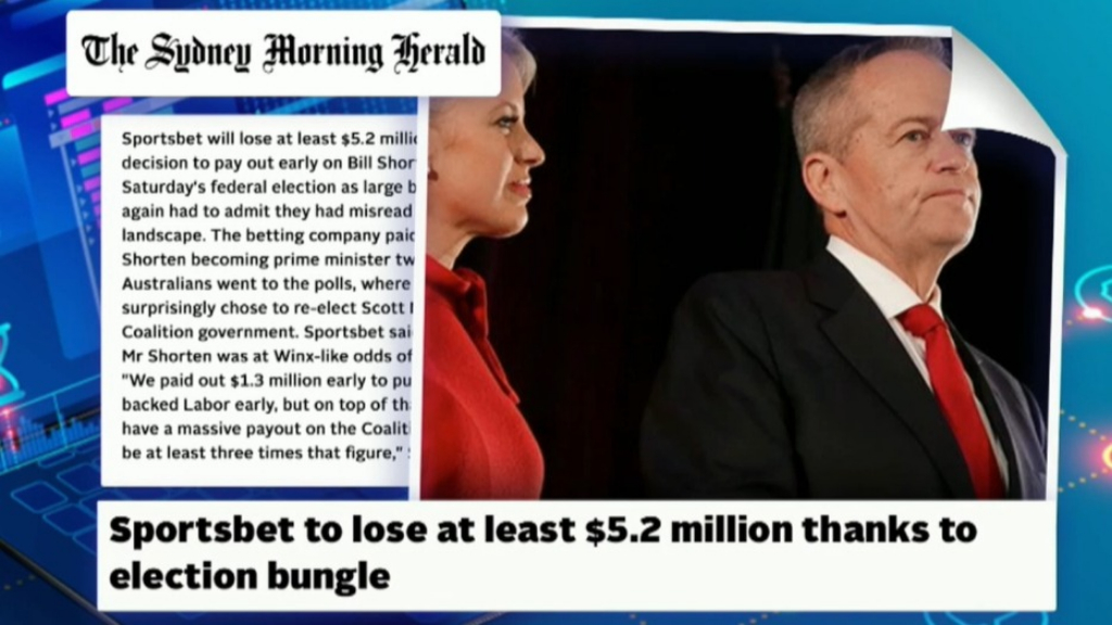 Sportsbet to lose at least $5.2 million after election bungle