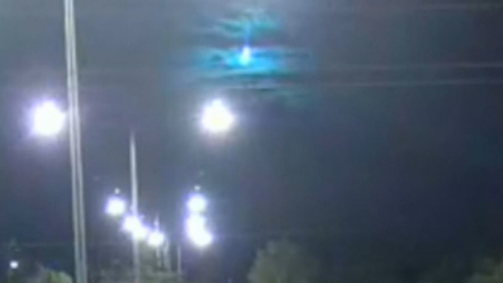 Stunning meteor shower in NT captured on CCTV