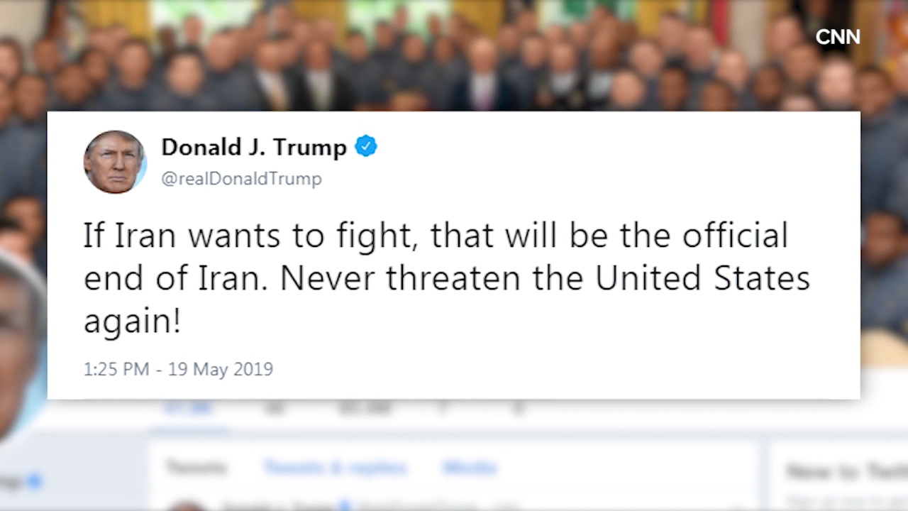 Donald Trump tweets dire warning to Iran