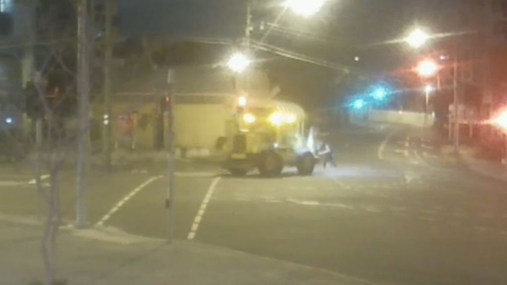 CCTV shows alleged hit-run in Brisbane