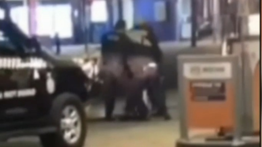 Two charged after violent overnight brawl at Sydney service station