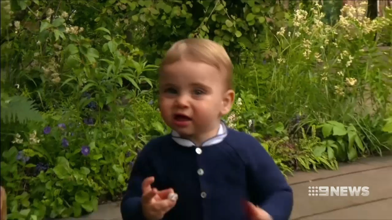 Prince Louis walks in public for first time in Duchess' kids garden