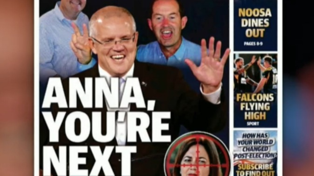 Controversy over Queensland newspaper's front page