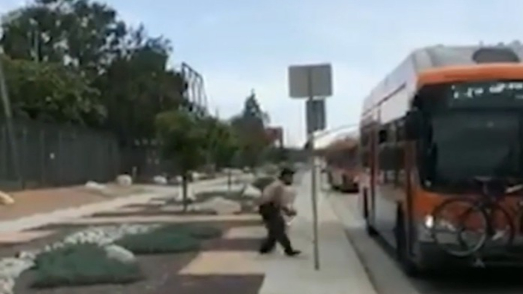 LA man arrested after bus rampage