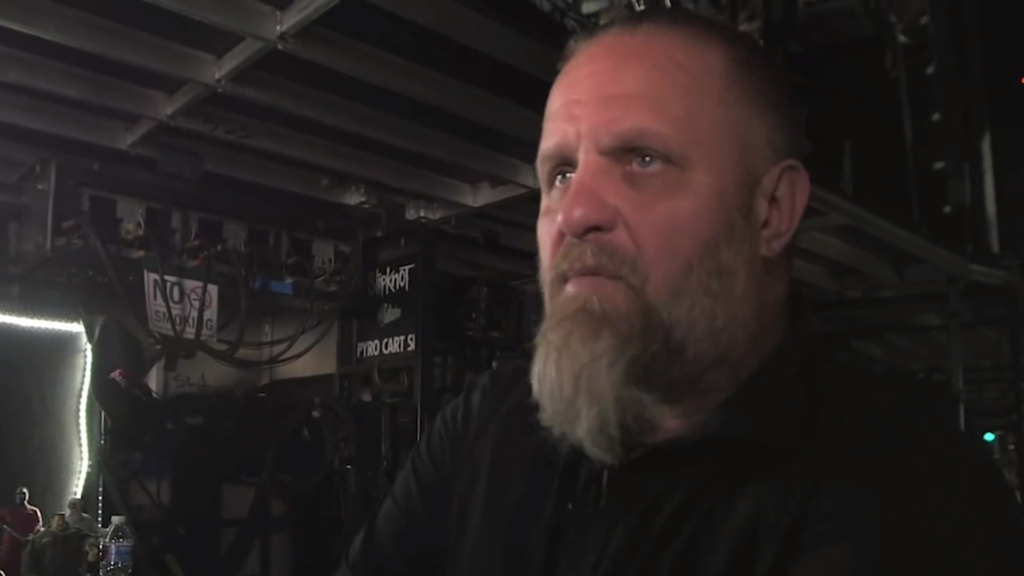 Shawn Crahan takes fans backstage at a Slipknot concert