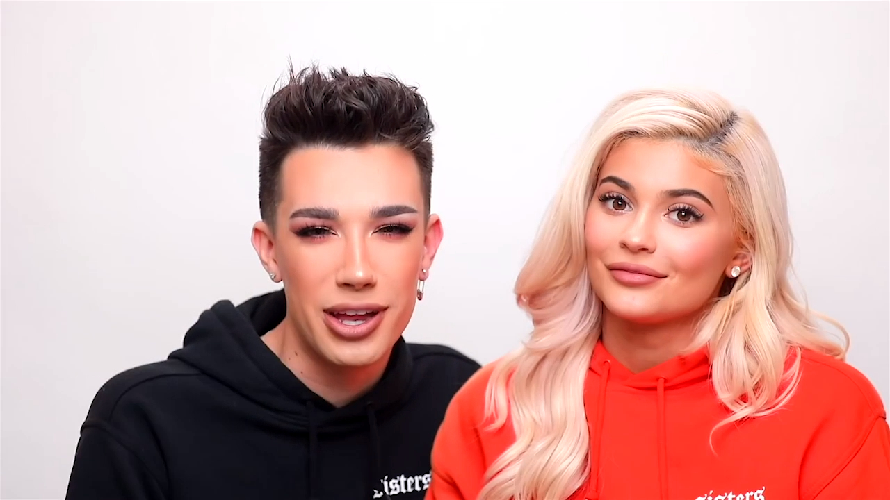 James Charles does Kylie Jenner's Halloween makeup