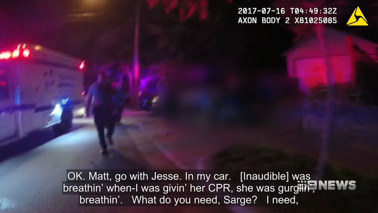 Video shows police officer's reaction to shooting Justine Ruszczyk