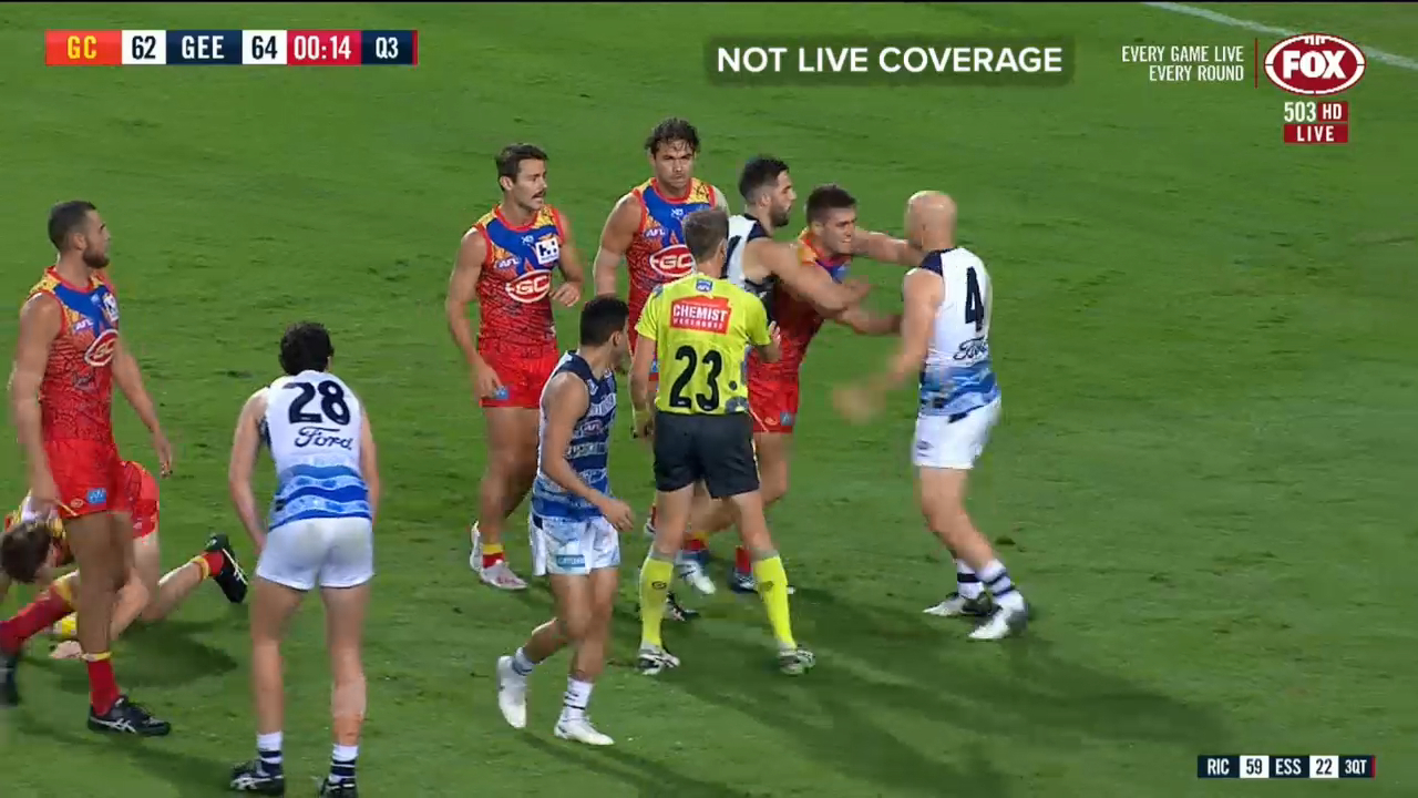 Ablett in hot water over high hit