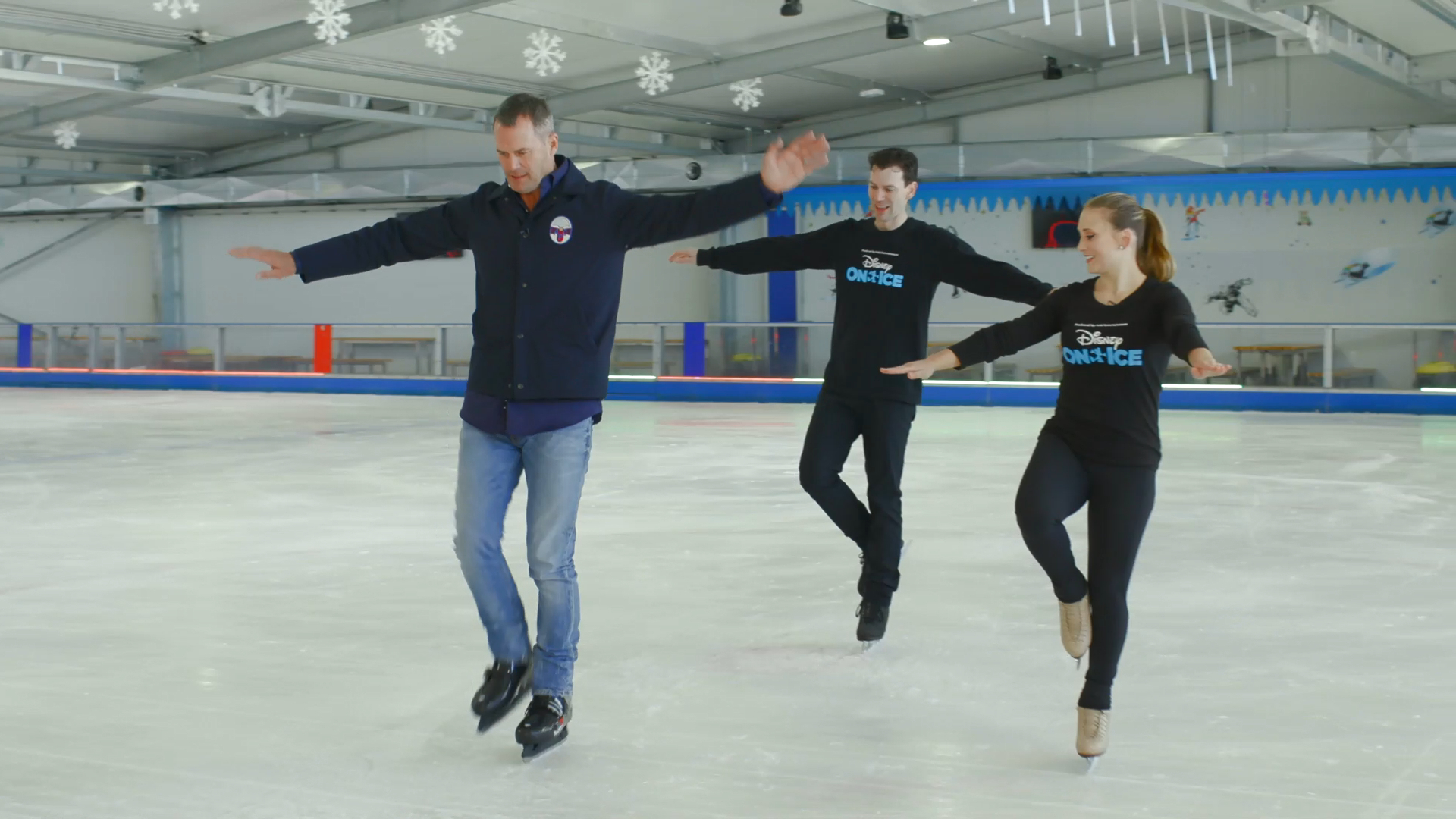 New Disney On Ice ambassador Tom Williams hits the ice rink