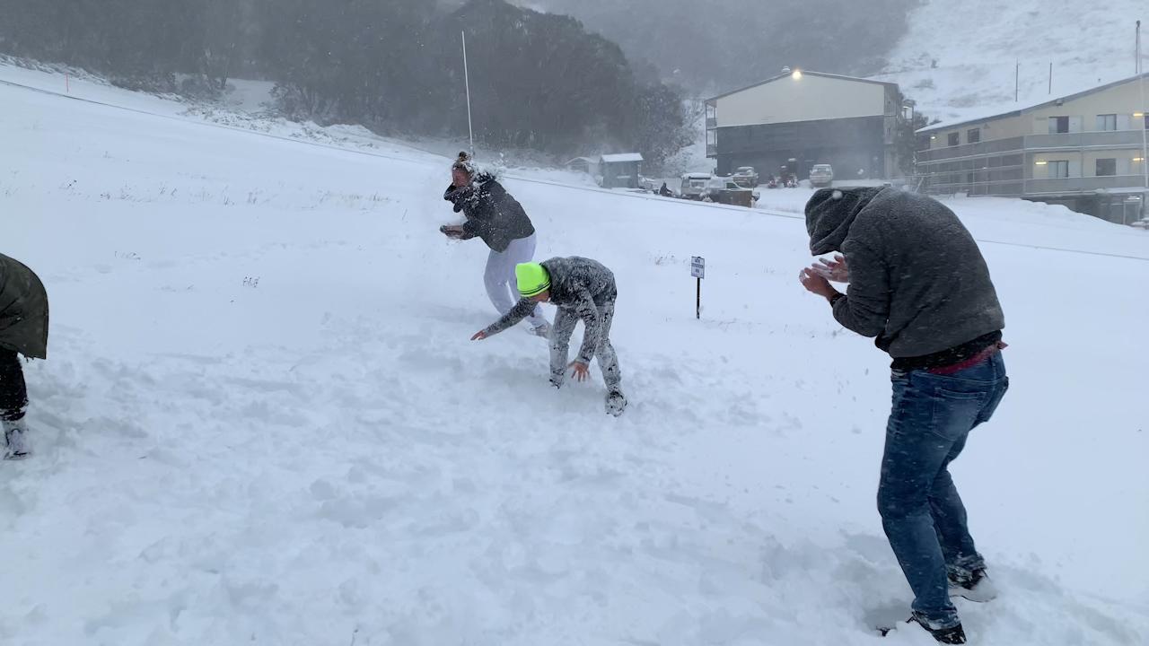 Australian ski fields covered in snow