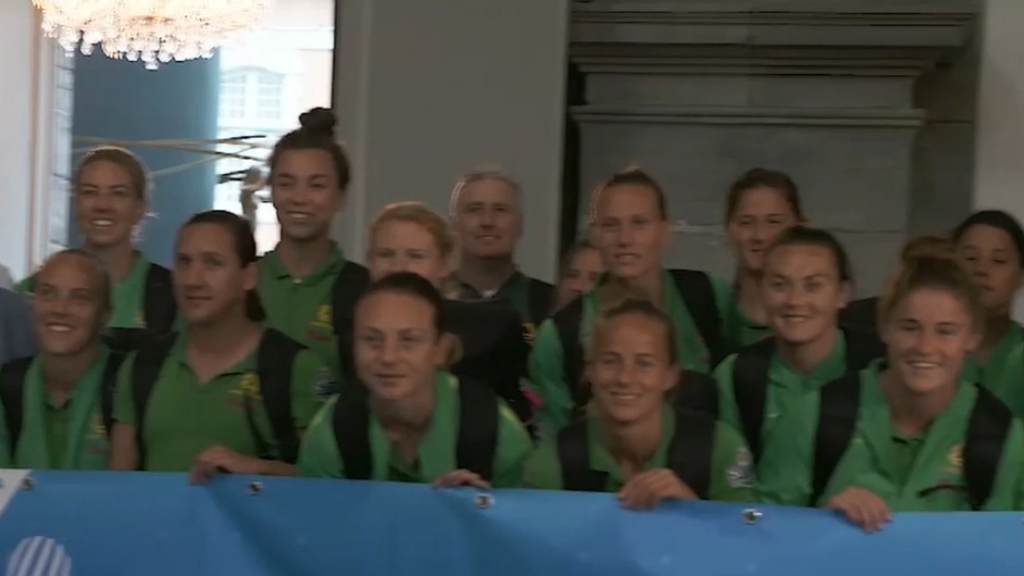 Matildas arrive in Valenciennes