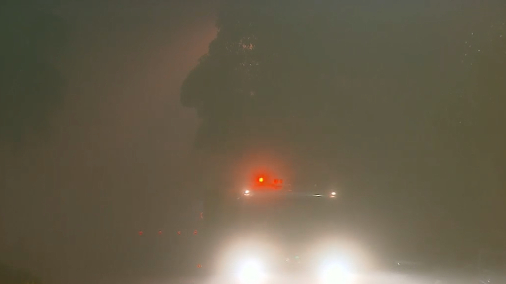 Sydney fog delays flights, blankets roads