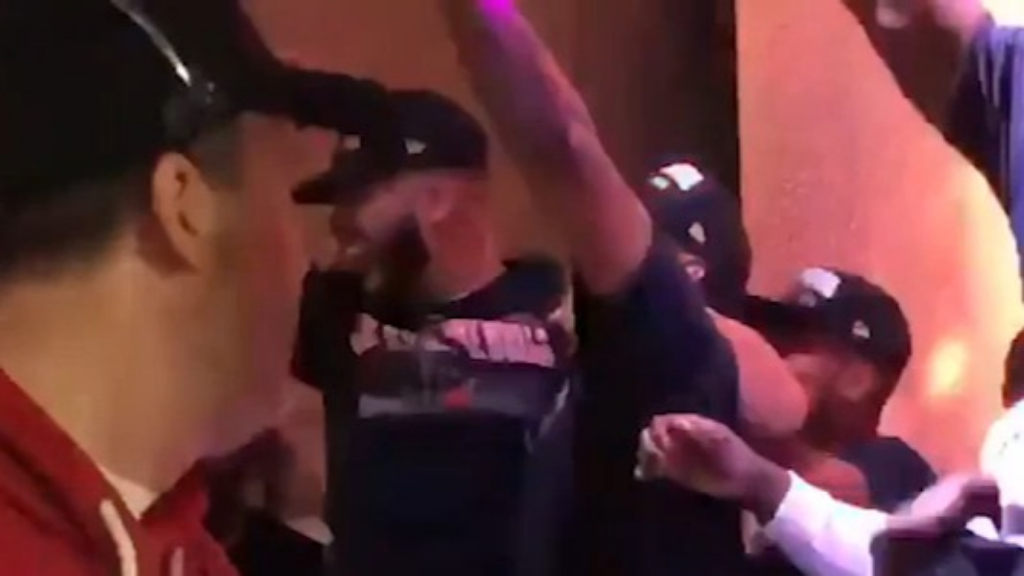 The Raptors superfan Drake watches the NBA Finals