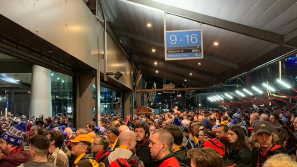 AFL fans stranded on Melbourne public transport