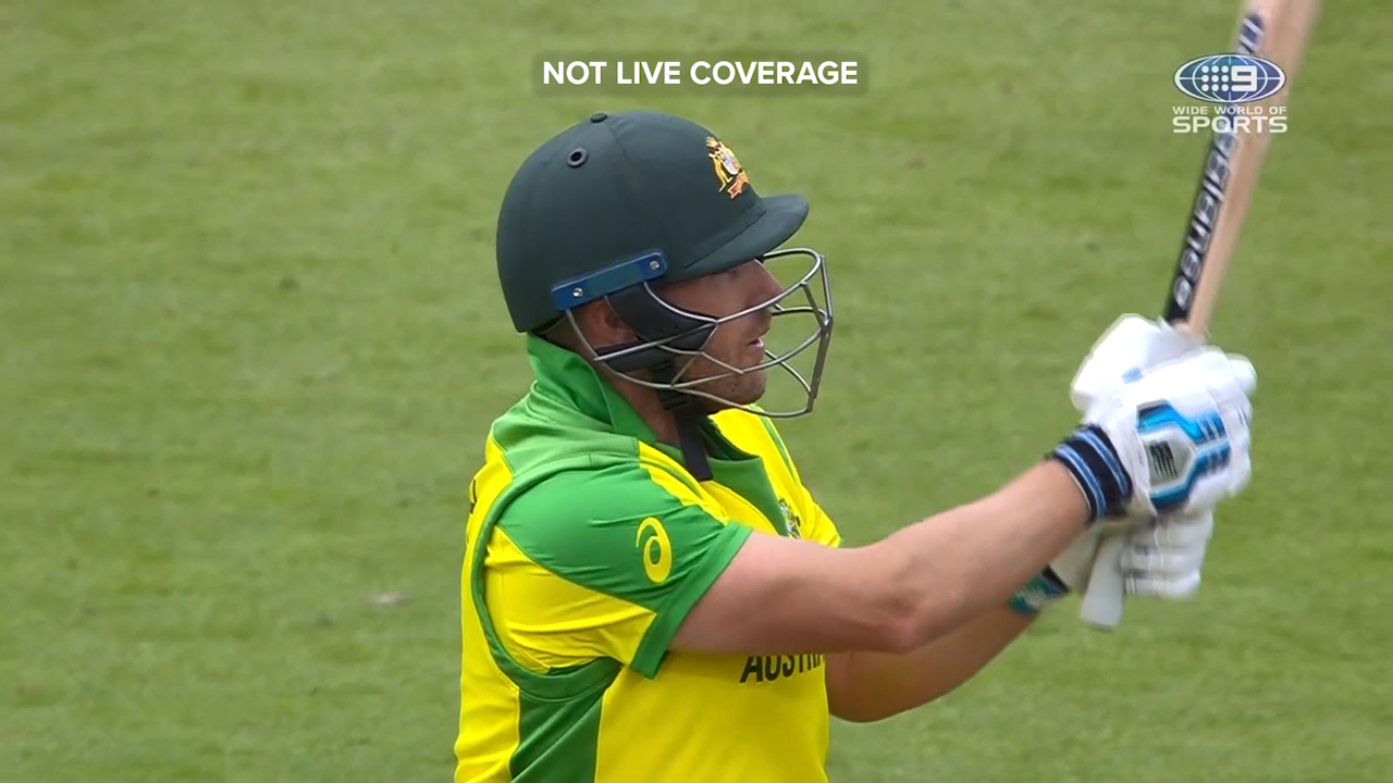Watch Aaron Finch clear the boundary against Sri Lanka