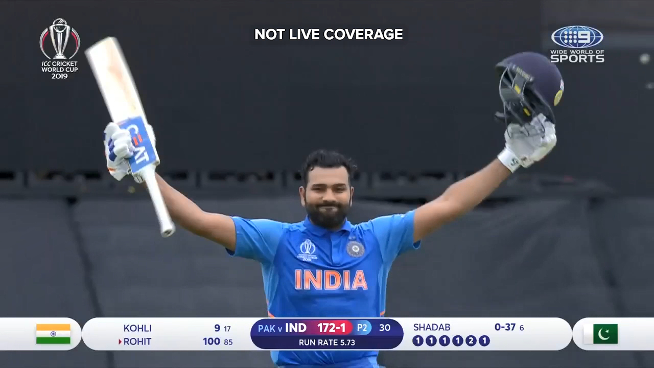 India's Rohit Sharma brought up another ODI century against Paksitan