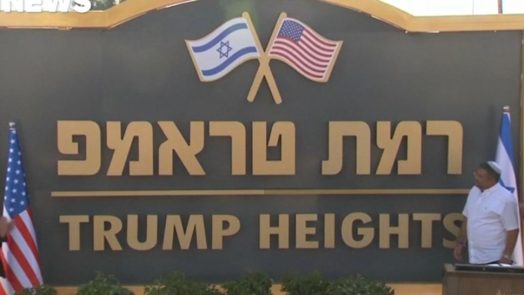 Israel renames settlement after Trump