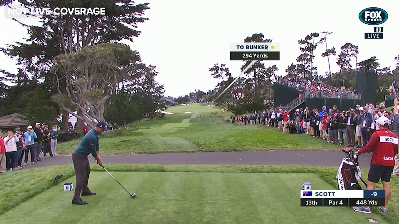 Scott hits it out of bounds
