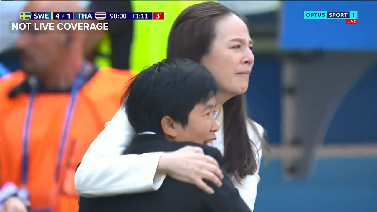 Thailand in tears after scoring against Sweden